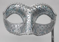 Turquoise and Silver Mask